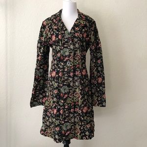 Johnny Was Floral Embroidered Duster Long Jacket S